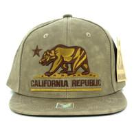 SM800 California Republic PU Snapback (Brown & Brown)