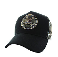 VM688 Hunting Cotton Velcro Cap (Black & Hunting Camo)