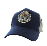 VM688 Hunting Cotton Velcro Cap (Navy & Hunting Camo)