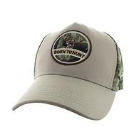 VM688 Hunting Cotton Velcro Cap (Khaki & Hunting Camo)