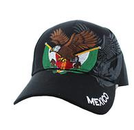 VM284 Mexico Baseball Velcro Cap (Solid Black)