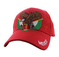 VM284 Mexico Baseball Velcro Cap (Solid Red)