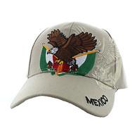 VM284 Mexico Baseball Velcro Cap (Solid Khaki)
