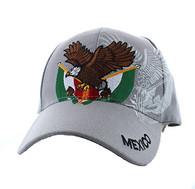 VM284 Mexico Baseball Velcro Cap (Solid Light Grey)
