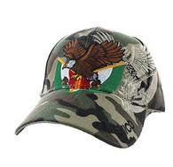 VM284 Mexico Baseball Velcro Cap (Solid Military Camo)