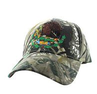 VM773 Mexico Cotton Velcro Baseball Cap (Solid Hunting Camo)