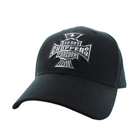 VM774 Choppers Cotton Velcro Cap (Solid Black)