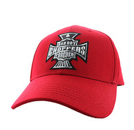 VM774 Choppers Cotton Velcro Cap (Solid Red)