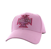 VM774 Choppers Cotton Velcro Cap (Solid Light Pink)