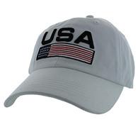 VM841 American USA Cotton Velcro Cap (Solid White)