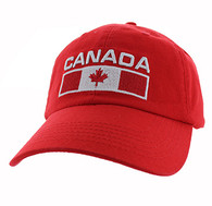 VM841 Canada Cotton Velcro Cap (Solid Red)