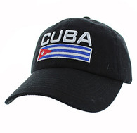 VM841 Cuba Cotton Velcro Cap (Solid Black)