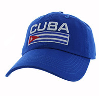 VM841 Cuba Cotton Velcro Cap (Solid Royal Blue)