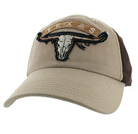 VM824 Texas Cotton Velcro Cap (Khaki & Brown)
