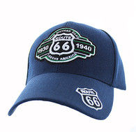 VM728 Route 66 Velcro Cap (Solid Navy)