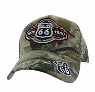 VM728 Route 66 Velcro Cap (Solid Hunting Camo)