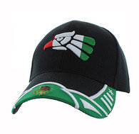 VM421 Mexico Baseball Velcro Cap (Black & Kelly Green)