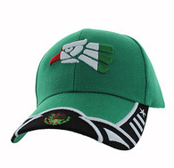 VM421 Mexico Baseball Velcro Cap (Kelly Green & Black)