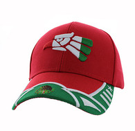 VM421 Mexico Baseball Velcro Cap (Red & Kelly Green)