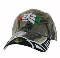 VM421 Mexico Baseball Velcro Cap (Hunting Camo & Black)