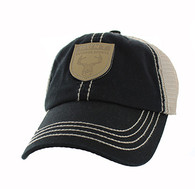 VM710 Hunt Outdoor Sports Mesh Velcro Cap (Black & Khaki)