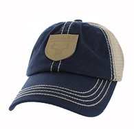 VM710 Hunt Outdoor Sports Mesh Velcro Cap (Navy & Khaki)