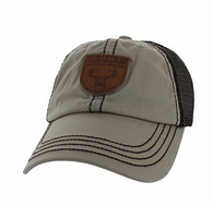 VM710 Hunt Outdoor Sports Mesh Velcro Cap (Khaki & Brown)
