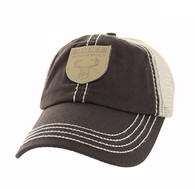 VM710 Hunt Outdoor Sports Mesh Velcro Cap (Brown & Khaki)
