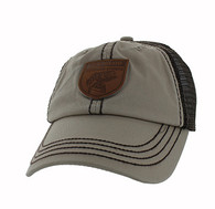 VM710 Fish Outdoor Sport Mesh Velcro Cap (Khaki & Brown)