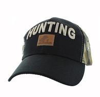 VM586 Hunting Velcro Cap (Black & Hunting Camo)
