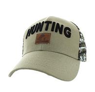 VM586 Hunting Velcro Cap (Khaki & Hunting Camo)
