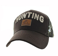 VM586 Hunting Velcro Cap (Brown & Hunting Camo)