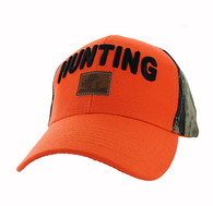 VM586 Hunting Velcro Cap (Orange & Hunting Camo)