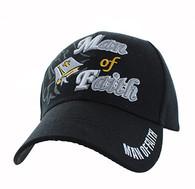 VM027 Man Of Faith Velcro Cap (Solid Black)