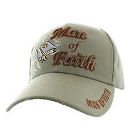 VM027 Man Of Faith Velcro Cap (Solid Khaki)