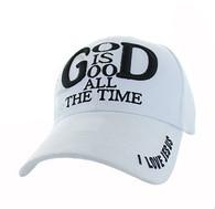 VM193 God is Good Velcro Cap (Solid White)