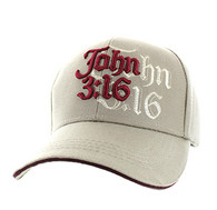 VM316 Chapter 3 Verse 16 of the Gospel of John Velcro Cap (Solid Khaki)