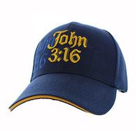 VM316 Chapter 3 Verse 16 of the Gospel of John Velcro Cap (Solid Navy)
