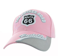 VM170 Route 66 Velcro Cap (Solid Light Pink)