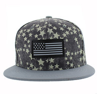 SM737 USA Flag Snapback Cap (Grey & Grey)
