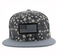 SM737 USA Flag Snapback Cap (Grey & Grey)