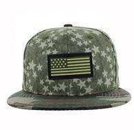 SM737 USA Flag Snapback Cap (Olive & Military Camo)