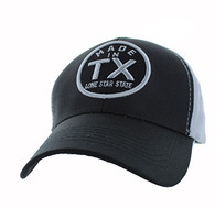 VM798 Texas Cotton Velcro Cap (Black & Grey)