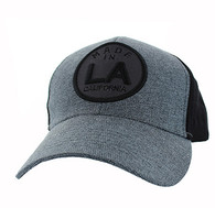 VM798 Los Angeles Cotton Velcro Cap (Charcoal & Black)