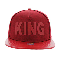 SM611 King Snapback (Red & Red)