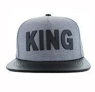 SM611 King Snapback (Grey & Black)