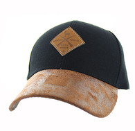 VM823 Hunting Deer Velcro Cap (Black & Brown)