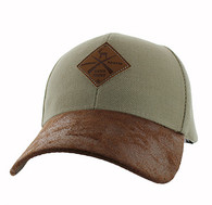 VM823 Hunting Deer Velcro Cap (Khaki & Brown)