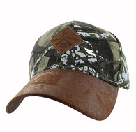 VM823 Hunting Deer Velcro Cap (Hunting Camo & Brown)