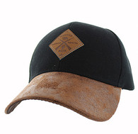 VM823 Hunting Bear Velcro Cap (Black & Brown)